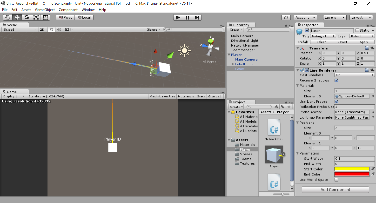 Unity 5 Network Tutorial Part 4 – Team Colours and Shooting