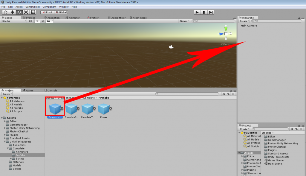 Photon Unity Networking Game Tutorial Part 3 – Adding the Player and
